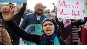 December 2011: Demonstration in Cairo against police violence against women (photo: Hossam Ali/AP/dapd)