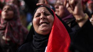 An Egyptian demonstrator in Cairo during a protest against the Muslim Brotherhood (photo: picture-alliance/landov)