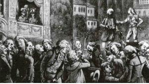 Wolfgang Amadeus Mozart (center) attended a performance of his own opera Die Entführung aus dem Serail while visiting Berlin in 1789 (photo: Wikipedia)