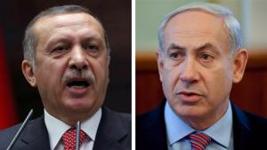Isreal's Prime Minister Benjamin Netayahu and Turkey's Prime Minister Recep Tayyip Erdogan (photo: AP)(photo: AP)