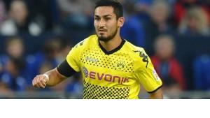 Ilkay Gündogan wearing the black and yellow strip of Borussia Dortmund (photo: picture alliance/dpa)