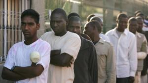 African migrants in the Short Stay Immigrant Centre in the Spanish enclave Melilla, Morocco (photo: Getty Images)