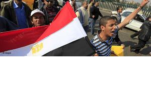 Egyptians in Cairo demonstrating against Mubarak (photo: dapd)