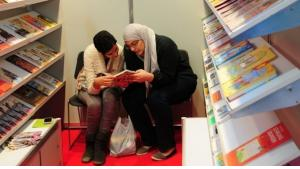 Visitors of the Cairo book fair (photo: Amira El Ahl)