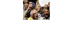 Kifaya movement activists protest against Mubarak and for democratic reforms in Egypt, photo: dpa