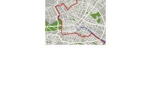 Foto: AP, Central Berlin map showing location of former Berlin Wall