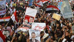 Mass rally of supporters of President Morsi in Cairo (photo: AFP/Getty Images)