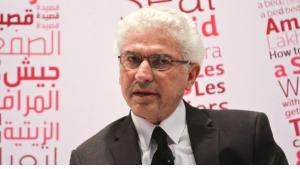 Nihad Sirees at the Abu Dhabi Book Fair 2013 (courtesy: Abu Dhabi Book Fair)