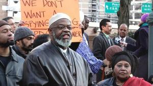 Imam Talib Abdur Rashid at a rally in New York (photo: dapd)