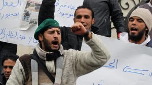 Portest against the economic crisis in Tunis (photo: dpa/picture-alliance)