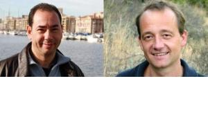 Khaled Al-Khamissi (left) and Stefan Weidner (photomontage: Susanne Schanda/DW)