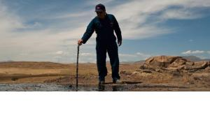 Worker on an oil field in Iraqi Kurdistan (photo: dpa)