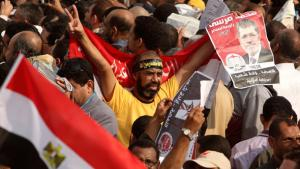 Supporters of Mohammed Morsi at a pro-Morsi rally (photo: Reuters)