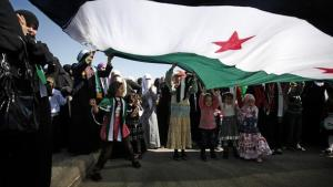 Anti-Assad protests in Jordan (photo: AP)