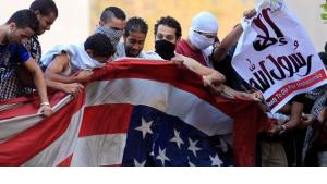 Anti-American protests on the compound of the American embassy in Cairo (photo: Reuters)