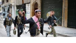 Soldiers of the Free Syrian Army in Aleppo (photo: AFP/Getty Images)