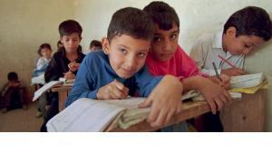 Schoolchildren in Sadr City (photo: AP)