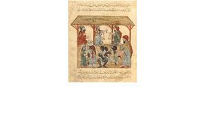 13th century slave market in the Yemen, Iraqi illustration (image: Wikipedia/Bibliothèque nationale de France, Département des Manuscrits, Division orientale)