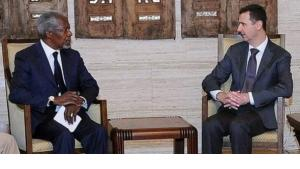 Kofi Annan and Bashar al-Assad (photo: dpa)