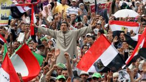 Egyptian demonstrators on Tahrir Square (photo: dpa)