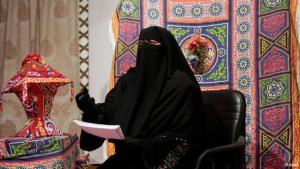 TV presenter of Maria TV wearing a niqab (photo: dapd)