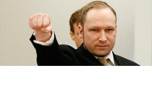 Anders Behring Breivik on the first day of his trial in April 2012 (photo: REUTERS/Fabrizio Bensch)