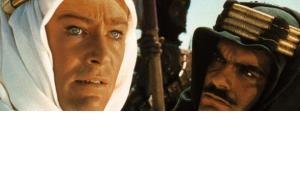 """Peter O'Toole and Omar Sharif in the movie """"Lawrence of  Arabia"""" of 1962 (photo: dpa)"""