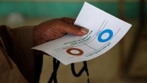 Ballot paper, first round of the referendum on the constitution in Egypt, November 15 (photo: dapd)