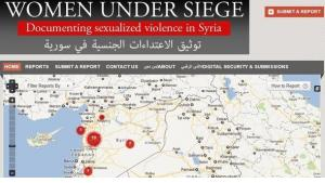 Screenshot from the 'Women under siege' website (source: https://womenundersiegesyria.crowdmap.com/)