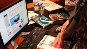 A work desk - in Lebanon (photo: DW)