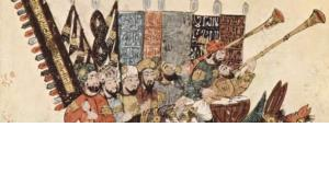 Yahya ibn Mahmud al-Wasiti, the 7th Maqāma of Maqamat al-Harīrī dating from the mid-10th century, with a 13th century illustration