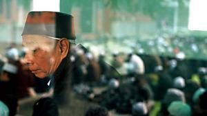 An old man at Niu Jie Mosque.