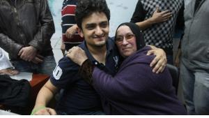 """Wael Ghonim founded the Facebook group """"We are all Khaled Said"""" and ascended to revolutionary hero status. Tens of thousands of people responded to the Facebook group's call to demonstrate on Tahrir Square on 25 January 2011"""
