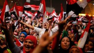 Revolutionaries in Egypt celebrate the ouster of president Mohammed Mursi (photo: Reuters)