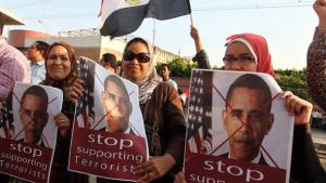 Anti-American protests in Cairo (photo: picture-alliance/dpa)
