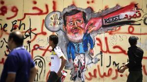 Anti-Morsi graffito in Cairo, Egypt (photo: Gianluigi Guercia/AFP/Getty Images)