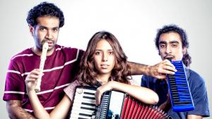 Youssra El Hawary and her band members Sedky Sakhr and Shady el Hosseiny (photo: Bashir Wagih)