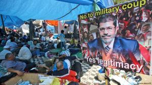 Supporters of Mohammed Morsi have filled entire squares in Cairo with their protest camps (photo: AP)