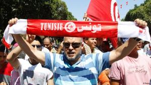Anti-government rally in Tunisia (photo: Reuters)