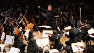 The Pan-Arab Youth Orchestra in concert in Berlin (photo: Kai Bienert/Young Euro Classic)