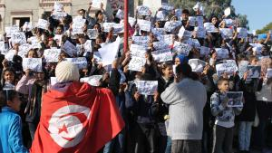 Protests in Tunisia at the start of the Jasmine Revolution (photo: DW/Mounir Khelifi)