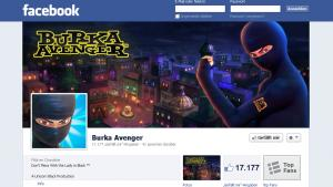 Screenshot of the Facebook fan site of the Burka Avenger (source: DW)