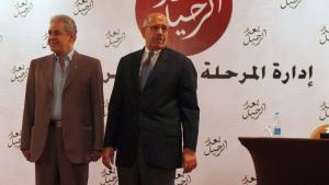 Hamdeen Sabahi (left) and Mohamed ElBaradei (photo: Reuters)