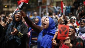 Protesters, opposing Egyptian President Mohamed Mursi, take part in a protest demanding Mursi to resign at Tahrir Square in Cairo July 1, 2013 (photo: Reuters)