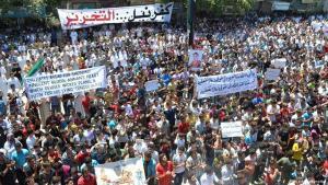 Anti-Assad protests in Idlib, 2012 (photo: picture-alliance/dpa)