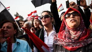 Women protests against the Muslim Brotherhood in Cairo (photo: picture-alliance/landov)