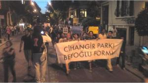 Protests of the Cihangir Park Forum in Istanbul (photo: private copyright)