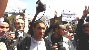 Protests by Egyptian journalists against police harassment (photo: picture-alliance/dpa)