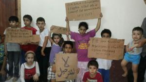 Syrian refugee children at the police station in Abukir, Egypt (photo: Karim El-Gawhary)
