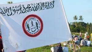 "Flag of the radical Islamic ""Uamsho"" movement in Sansibar (photo: Mohammed Khelef/DW)"